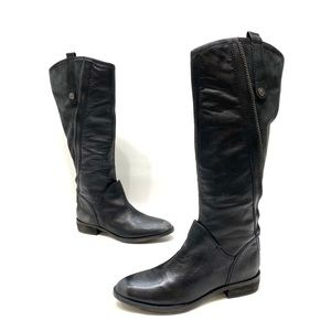 Sam Edelman leather riding boots distressed size 8